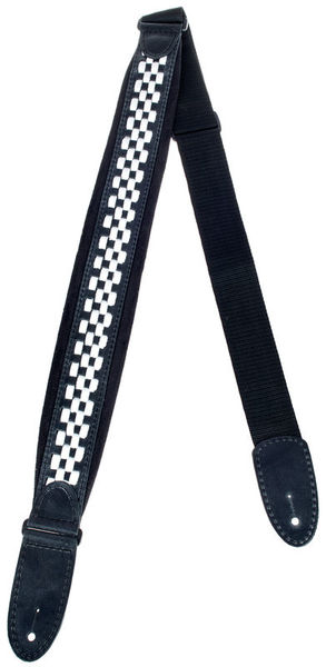 Minotaur Checkers Ribbon Strap Black