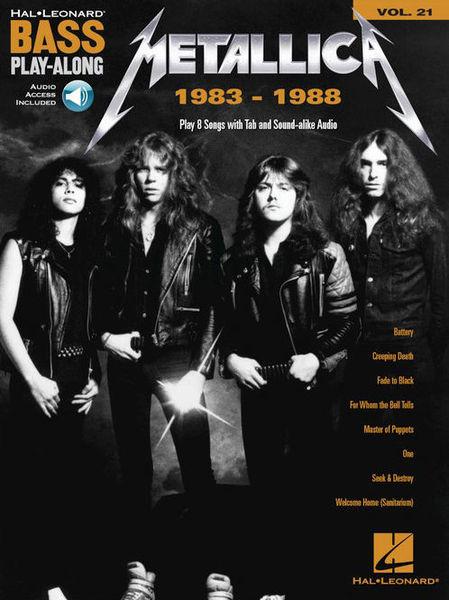 Hal Leonard Bass Play-Along Metallica 1983