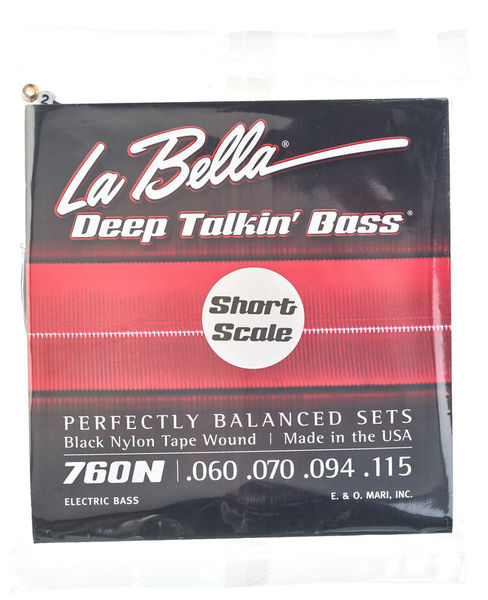La Bella 760N-S Black Nylon Tape