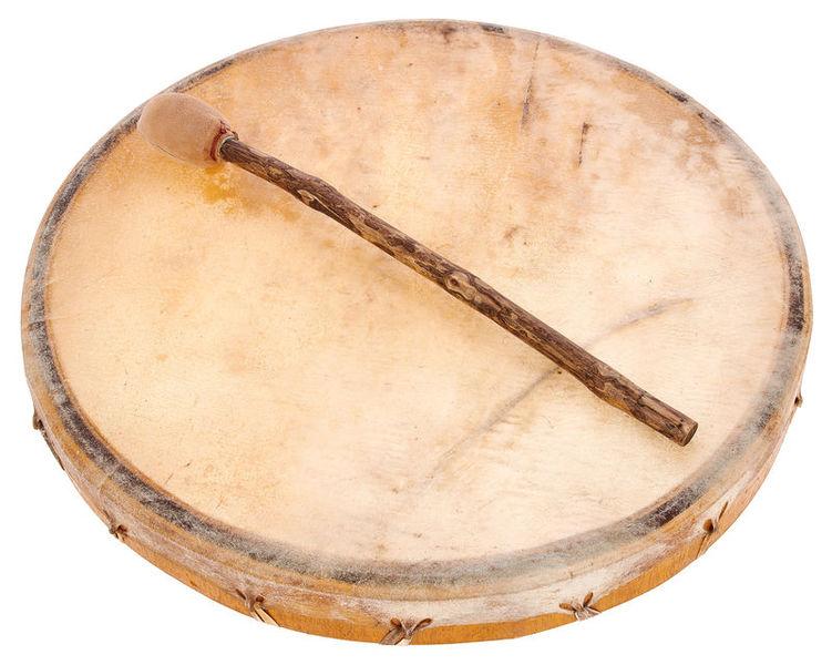 Shaman Drum Cow Skin Shorn Terre