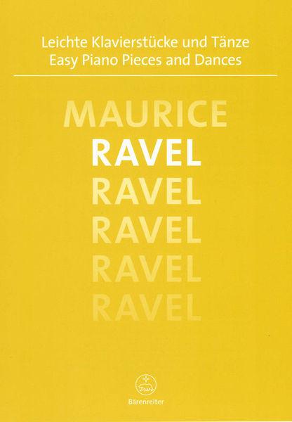 Bärenreiter Ravel Easy Piano Pieces