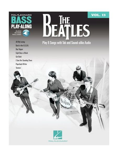Hal Leonard Bass Play-Along The Beatles