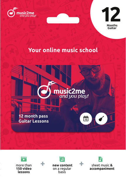 Guitar Subscription 12 Mon. music2me