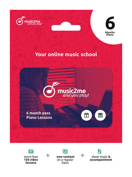 Piano Subscription 6 Months music2me
