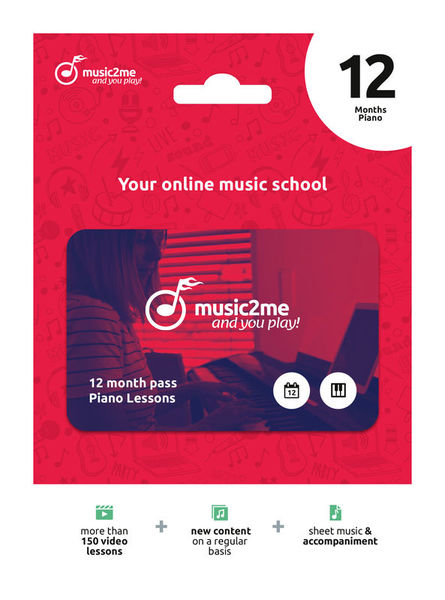 Piano Subscription 12 Months music2me