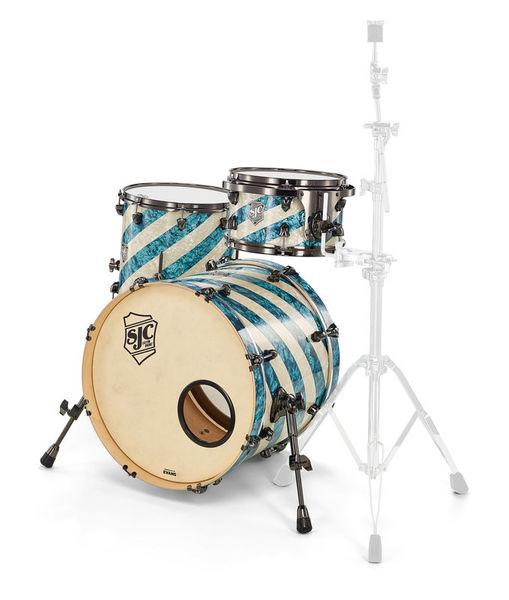 SJC Drums Custom Studio Turquoise Barb.