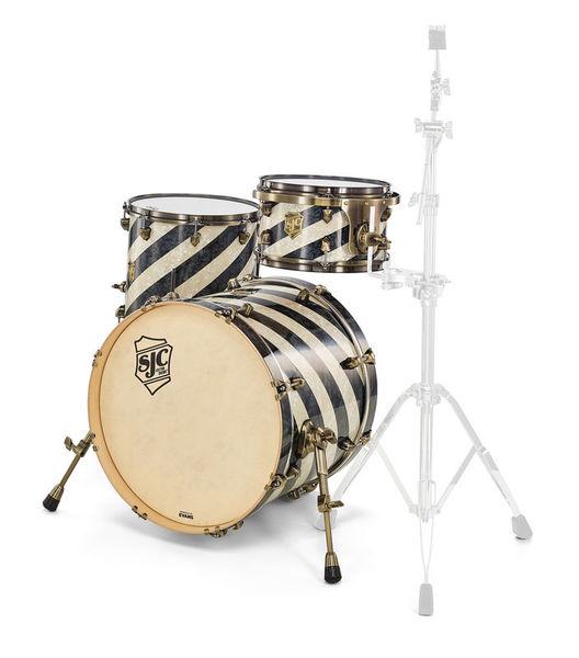 SJC Drums Custom Studio Aged Black Barb.