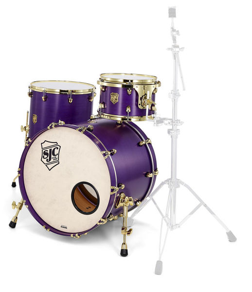 SJC Drums Custom Stage set Purple brass