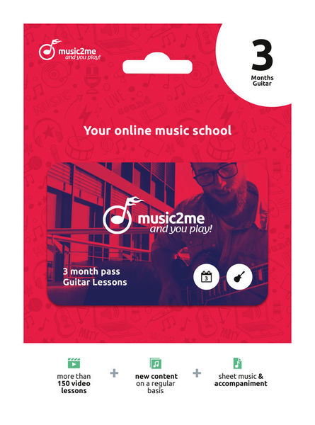 music2me Guitar Subscription 3 Months