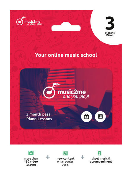 Piano Subscription 3 Months music2me