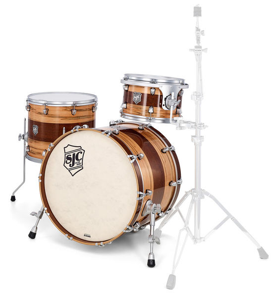 SJC Drums Custom 3-piece Wormy Maple