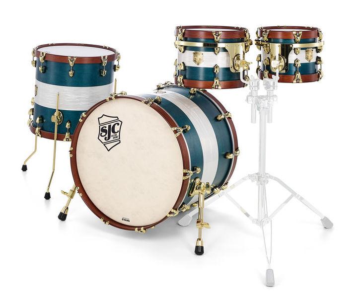 SJC Drums Custom 4-piece Satin Blue Aged