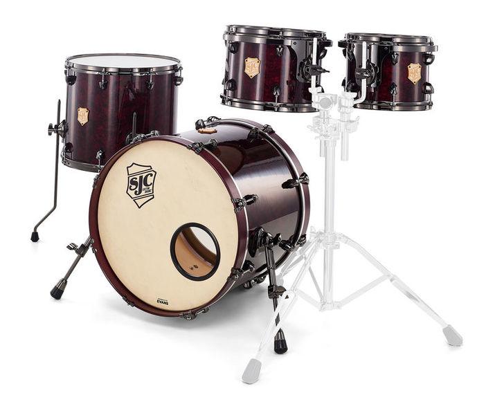 SJC Drums Custom 4-piece Merlot Pearl