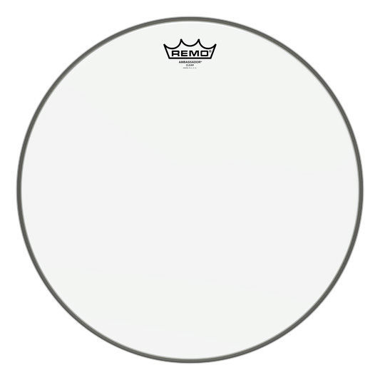 "Remo 16/"" Ambassador Clear Drum Head"