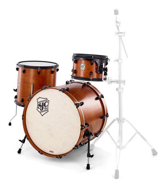 SJC Drums Tour 3pc shell set ochre/black