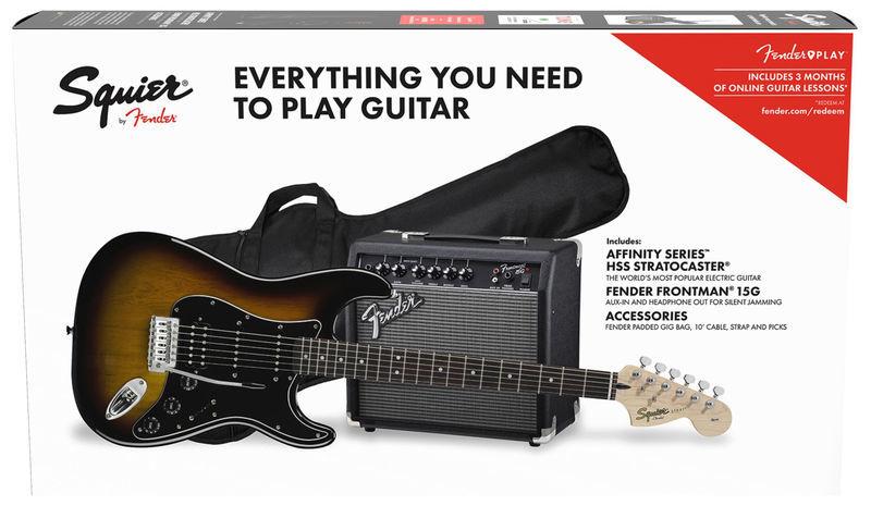 Fender SQ Affi Strat Pack HSSBSB IL
