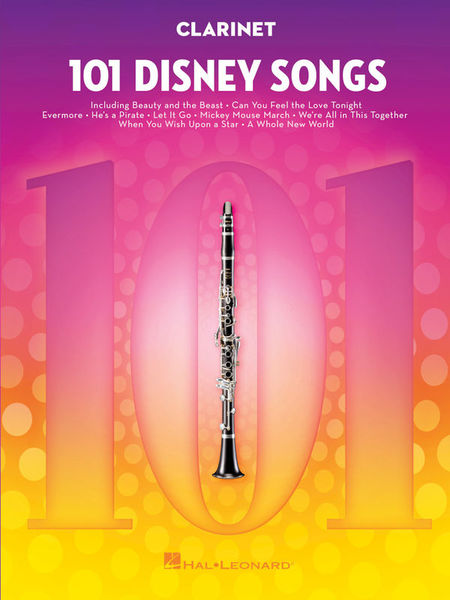 Hal Leonard 101 Disney Songs Clarinet