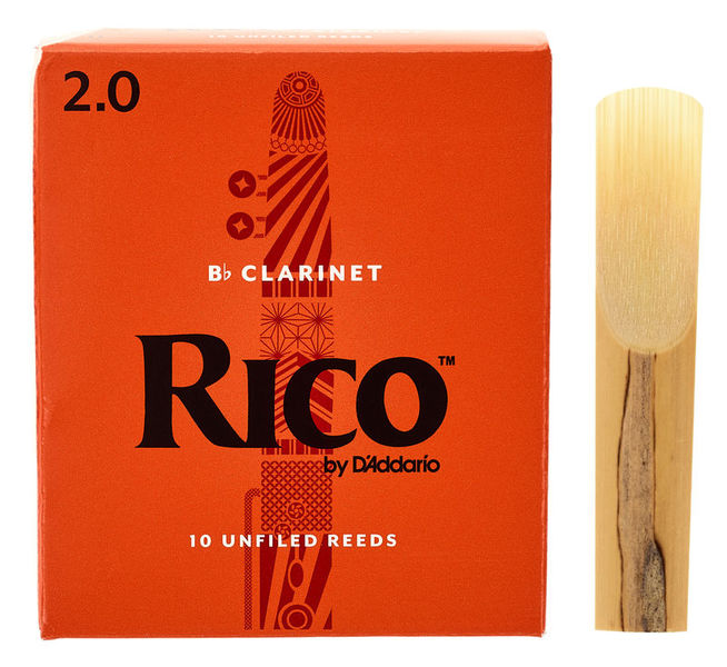 DAddario Woodwinds Rico Bb- Clarinet 2 Boehm