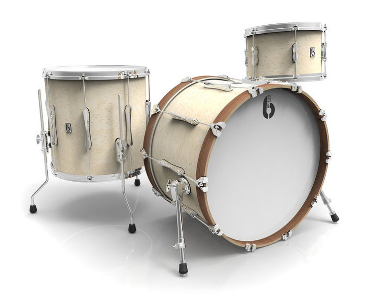 "British Drum Company Lounge Series 20"" Wilt. White"