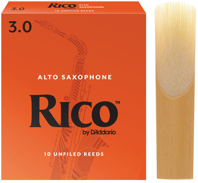 Box of 10 Vandoren ZZ Jazz Alto Sax Reeds Strength 3