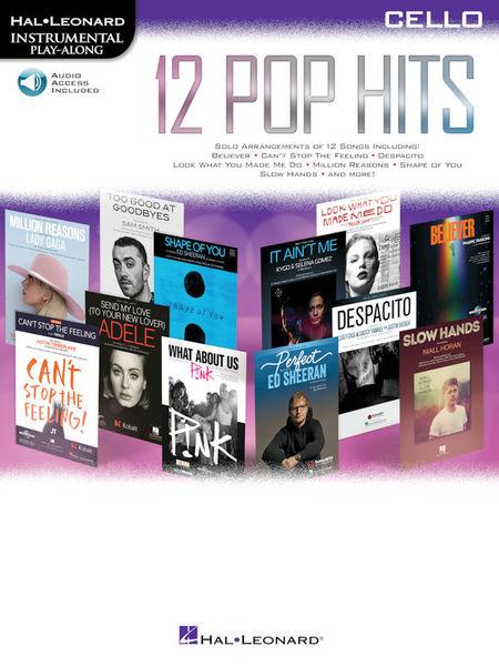 Hal Leonard 12 Pop Hits Cello