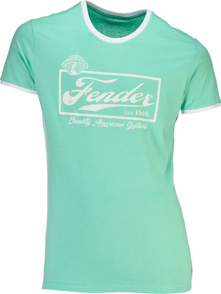Fender T-Shirt Ringer Mint Green M