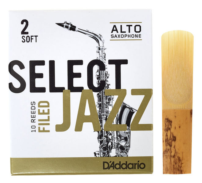 DAddario Woodwinds Select Jazz Filed Alto 2S