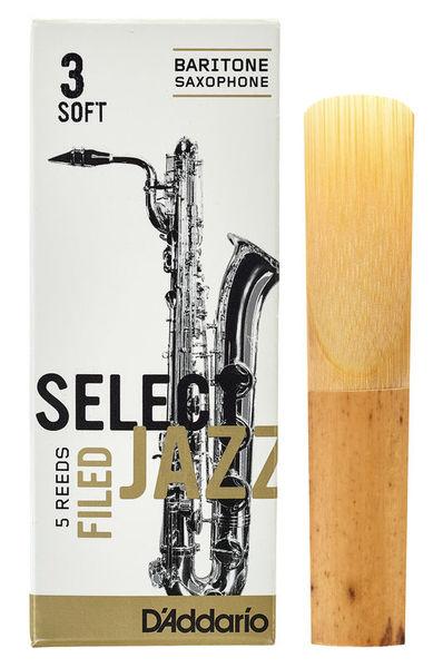 DAddario Woodwinds Select Jazz Filed Baritone 3S
