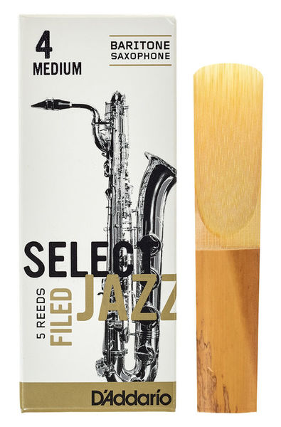 DAddario Woodwinds Select Jazz Filed Baritone 4M