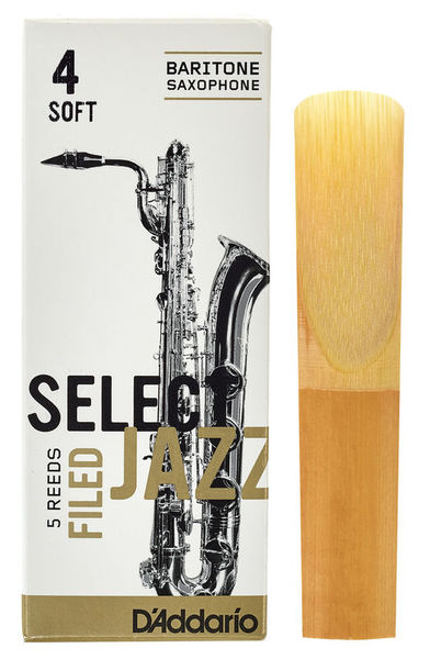 DAddario Woodwinds Select Jazz Filed Baritone 4S