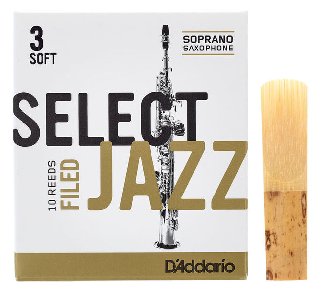 DAddario Woodwinds Select Jazz Filed Soprano 3S
