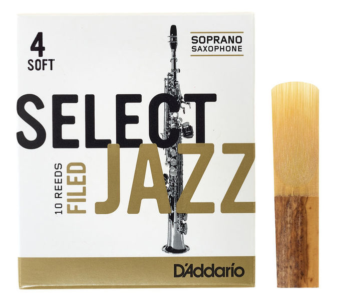 DAddario Woodwinds Select Jazz Filed Soprano 4S