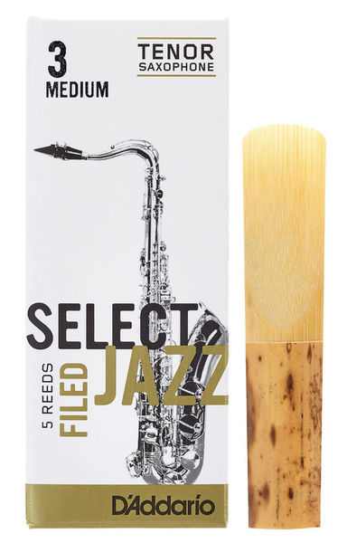 DAddario Woodwinds Select Jazz Filed Tenor 3M