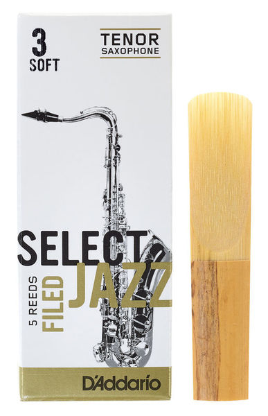 DAddario Woodwinds Select Jazz Filed Tenor 3S