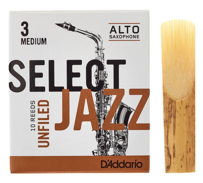DAddario Woodwinds Select Jazz Unfiled Alto 3M
