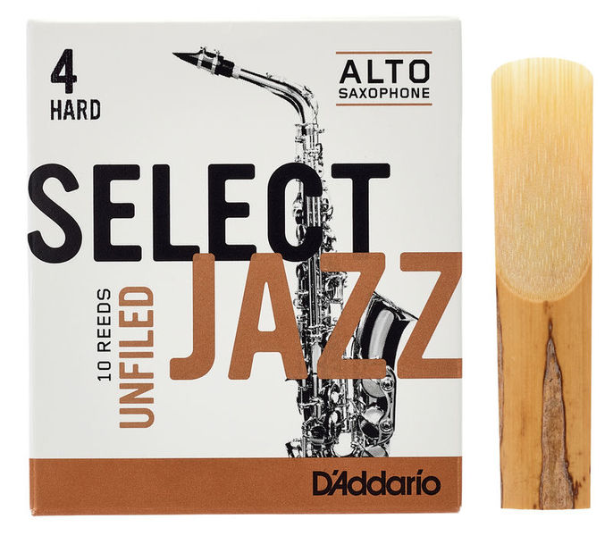 DAddario Woodwinds Select Jazz Unfiled Alto 4H
