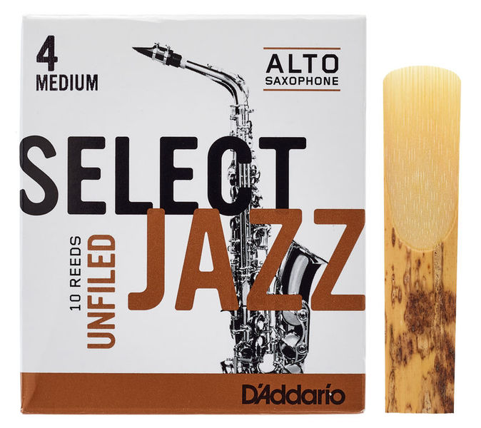DAddario Woodwinds Select Jazz Unfiled Alto 4M