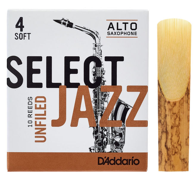 DAddario Woodwinds Select Jazz Unfiled Alto 4S