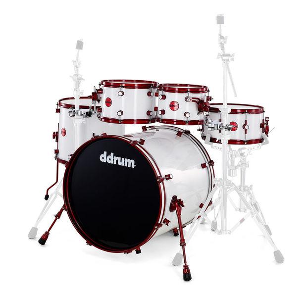 DDrum Reflex White Wrap Red