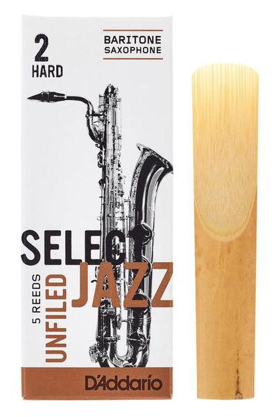 DAddario Woodwinds Select Jazz Unfiled Bariton 2H