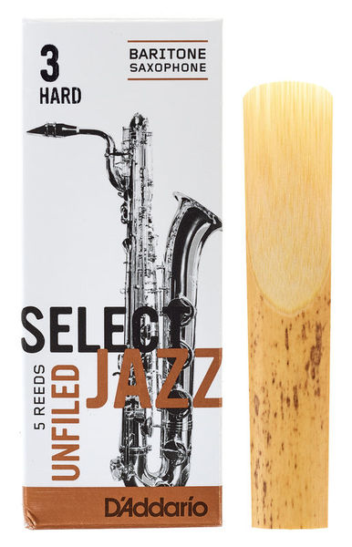 DAddario Woodwinds Select Jazz Unfiled Bariton 3H