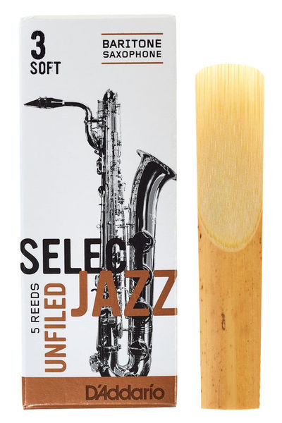 DAddario Woodwinds Select Jazz Unfiled Bariton 3S