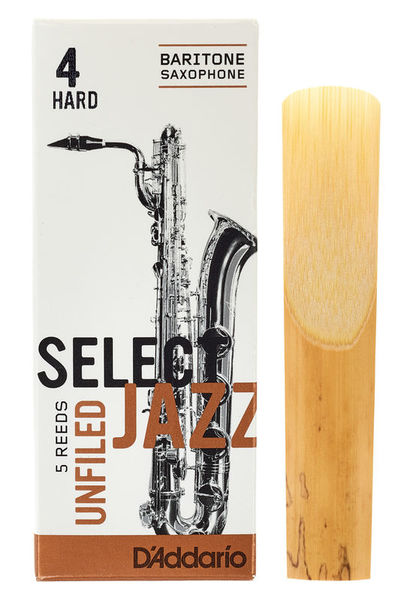 DAddario Woodwinds Select Jazz Unfiled Bariton 4H