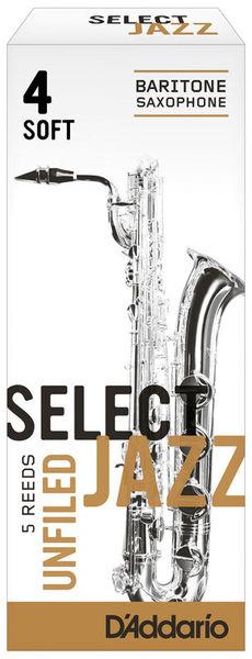 Select Jazz Unfiled Bariton 4S DAddario Woodwinds