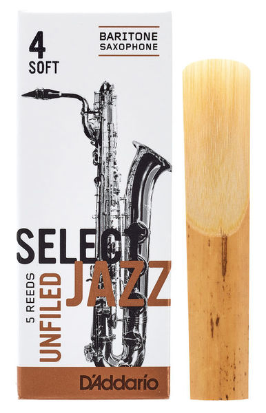 DAddario Woodwinds Select Jazz Unfiled Bariton 4S