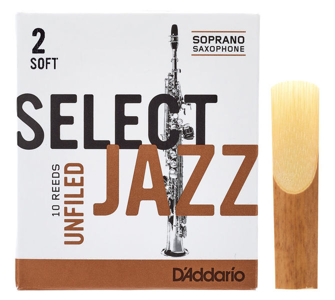 DAddario Woodwinds Select Jazz Unfiled Soprano 2S