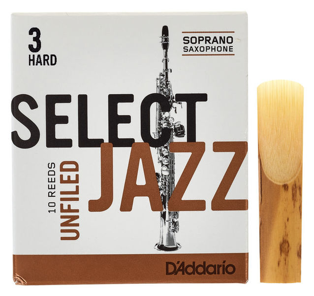 DAddario Woodwinds Select Jazz Unfiled Soprano 3H