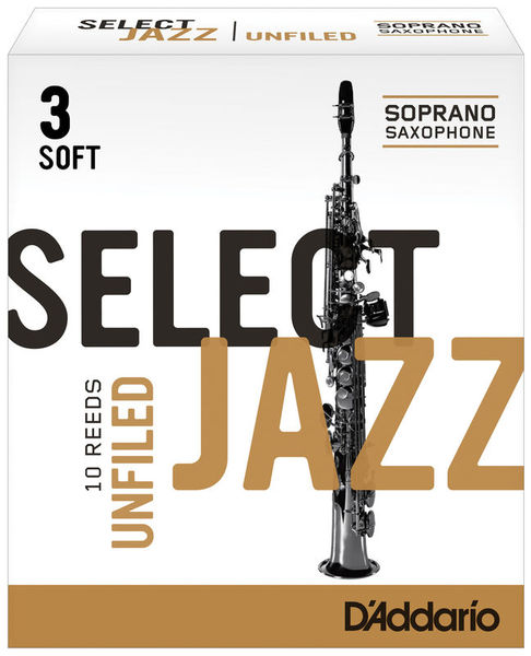 Select Jazz Unfiled Soprano 3S DAddario Woodwinds