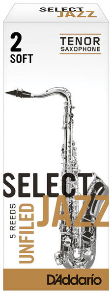 Select Jazz Unfiled Tenor 2S DAddario Woodwinds