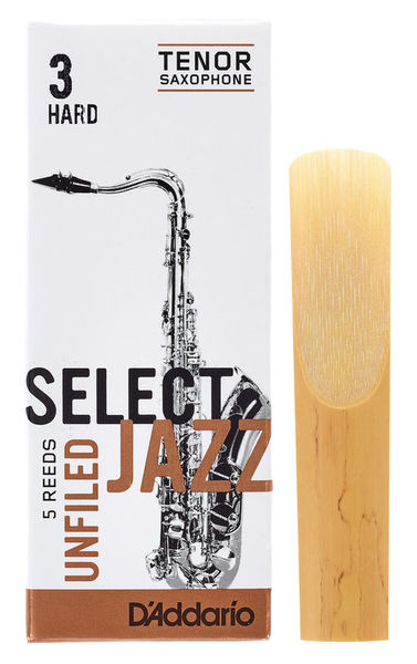 DAddario Woodwinds Select Jazz Unfiled Tenor 3H